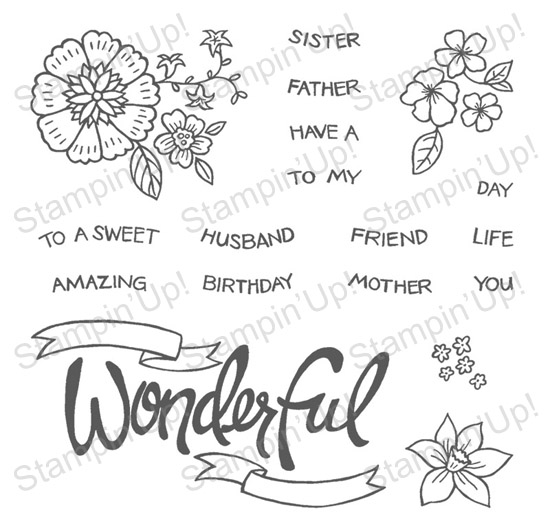 StampinUp Photopolymer: You're Wonderful